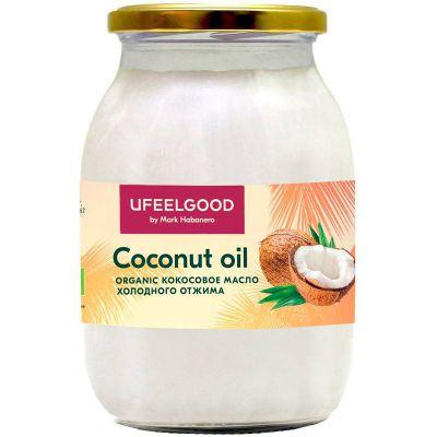 Масло Кокосовое 1 литр  холодного отжима «UFEELGOOD»