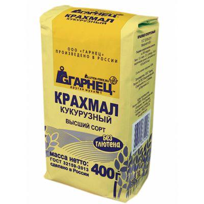 Крахмал Кукурузный (без глютена) «Гарнец» 400 гр