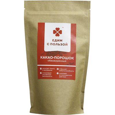 Какао-порошок обезжиренный 225 гр «Едим с пользой»