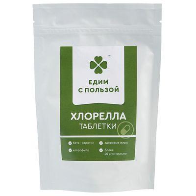 Хлорелла в таблетках 100 гр «Едим с пользой»