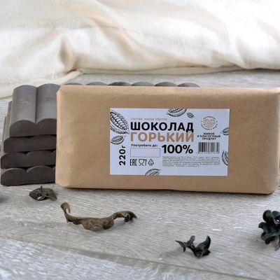 Шоколад (ГОРЬКИЙ 100%) 220 гр. «Мастерская шоколада ДОБРО»