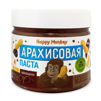 Арахисовая паста «Шоколадная» 330 гр Happy Monkey
