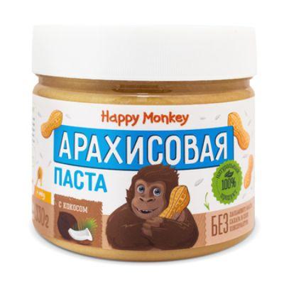 Арахисовая паста «с кокосом» 330 гр Happy Monkey