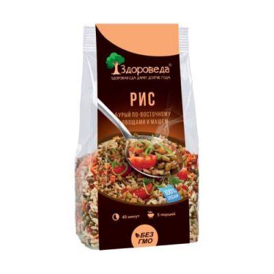Рис бурый По-восточному с Машем и Овощами 250 гр «Здороведа»