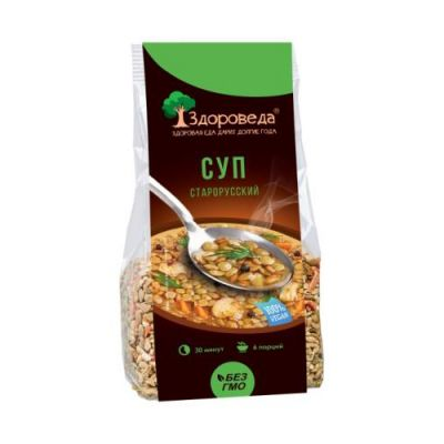 Суп Старорусский из Полбы и зеленой Чечевицы 250 гр «Здороведа»