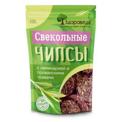 Свекольные Чипсы (Ламинария+Прованские травы) 100г «Здороведа»