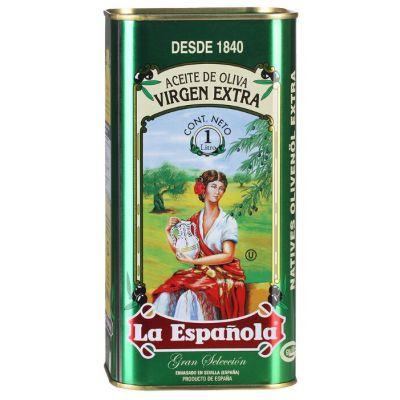 Масло оливковое La Espanola Extra Virgin, 1л жестяная банка