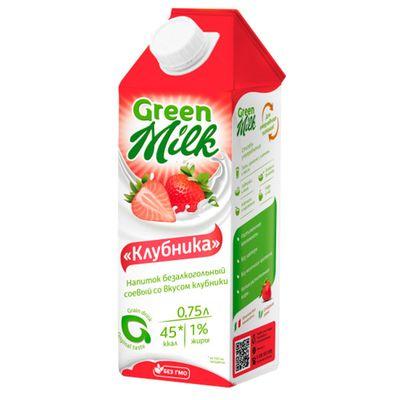 Растительное молоко ВАНИЛЬ + СОЯ 0,75 л «GREEN MILK»