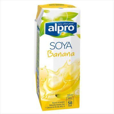 Напиток СОЕВО-БАНАНОВЫЙ обогащенный кальцием и витаминами 0,25 л «ALPRO»