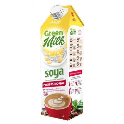 Напиток СОЕВЫЙ на рисовой основе professional 1 л «GREEN MILK»