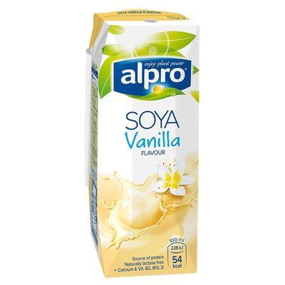 Напиток СОЕВЫЙ + ВАНИЛЬ обогащенный кальцием и витаминами 0,25 л «ALPRO»