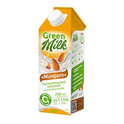 Растительное молоко МИНДАЛЬ + РИС 0,75 л «GREEN MILK»