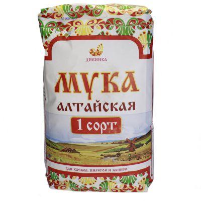 Мука ПШЕНИЧНАЯ 1-сорт 2 кг «Дивинка»