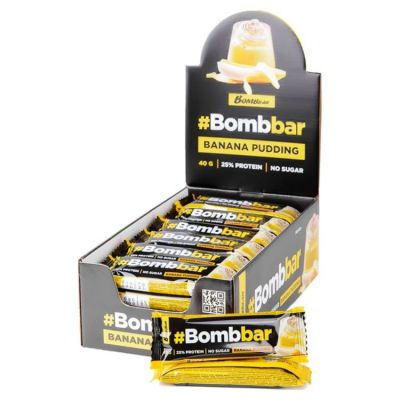БАТОНЧИК (Банановый пудинг) глазированный 40 гр «Bombbar»