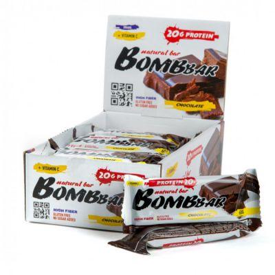 БАТОНЧИК (Двойной шоколад) неглазированный 60 гр «Bombbar»