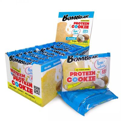 Печенье протеиновое КОКОС 40 гр «Bombbar»