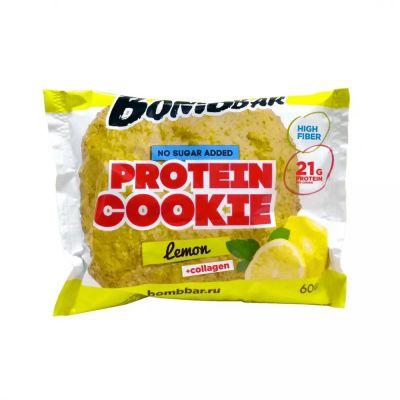 Печенье протеиновое ЛИМОН 60 гр «Bombbar»