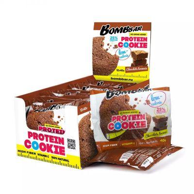 Печенье протеиновое ШОКОЛАДНЫЙ БРАУНИ 40 гр «Bombbar»