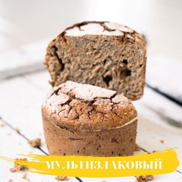 ХЛЕБ РЖАНОЙ Мультизлаковый бездрожжевой 300 гр «Бreadбери»